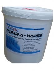 POHRA-WIPES - Desinfektionstücher im Spendereimer 620 Stück.
